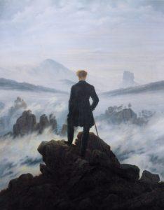 """""""טייל מעל לים הערפל"""" מאת קספר דוד פרידריך - נחשב למייצג בולט של האמנות הרומנטית"""